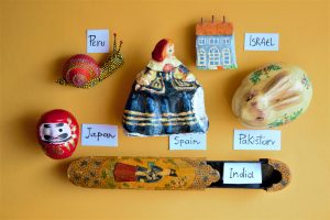 Example of materials for paper-mache from around the world