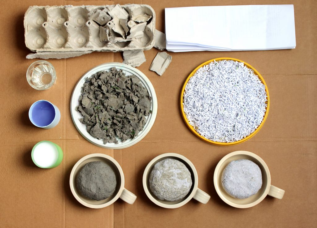 Materials for paper mache preparation