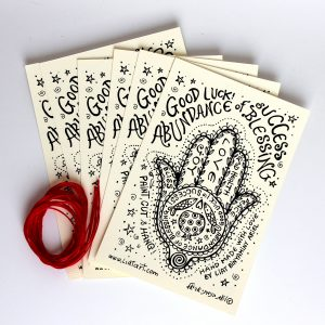חמשה למזל טוב! מארז של 6 גלויות באנגלית
