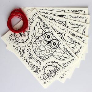 Flying Owlettes Postcard 6-pack