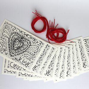 צבעים של אהבה, מארז של 12 גלויות